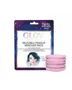 GLOV Reusable Makeup Removers Pads. Color rosa