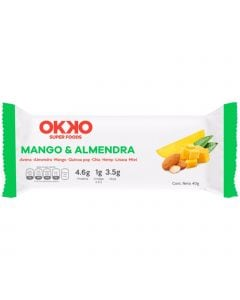 Okko Super Foods Bar Mango y Almendra