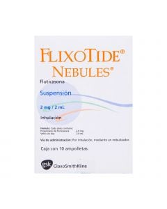 Flixotide Nebules 2 mg 2 ml 10 ampolletas