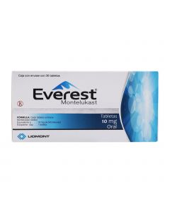 Everest 10 mg oral 30 tabletas