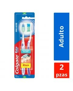 Cepillo dental colgate extra clean duro  2x1 blist