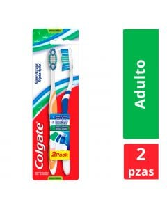 Cepillo dental colgate triple accion med  2x1 blist